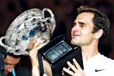 Roger Federer with his sixth Australian Open men's singles title and 20th Grand Slam of his career
