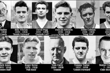 Manchester United victims of the crash