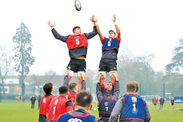 Going through a line out routine