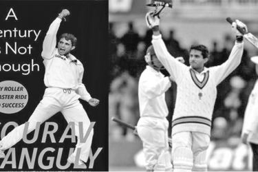 "Cover of Sourav Ganguly's new book ""A Century Is Not Enough""."