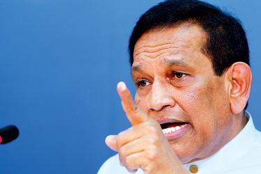 Minister Rajitha Senaratne speaks at the Cabinet media briefing yesterday.  Picture by Saman Sri Wedage