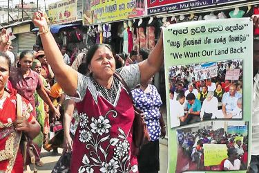 The demonstration in Mullaitivu.  Picture by Vavuniya North Group Corr.