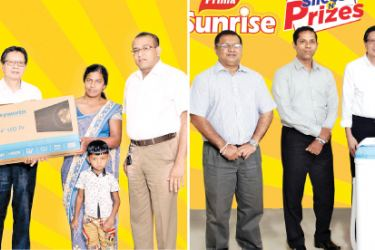 Deputy General Manager, Sajith Gunaratne, Senior Business Manager, Donavan Ondaatje, General Manager, Shun Tien Shing, Business Development Manager - Bakery Products, Indika Dissanayake with the winners.