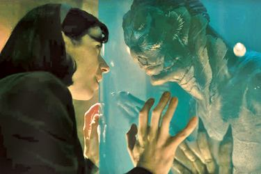 In Guillermo del Toro's The Shape of Water, Sally Hawkins plays Elisa, a mute dreamer who finds herself drawn to to a lizard-man that was captured in South America.