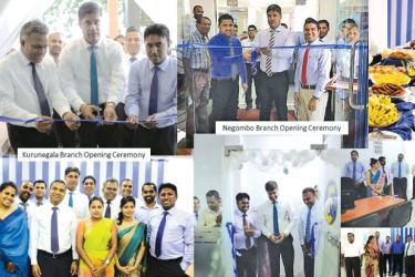 CEO of First Capital, Senior Manager Branch Operations and senior staff members at branch opening ceremonies in Negombo, Kurunegala and Kandy.