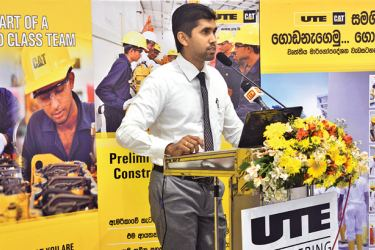An offical addressing the UTE event