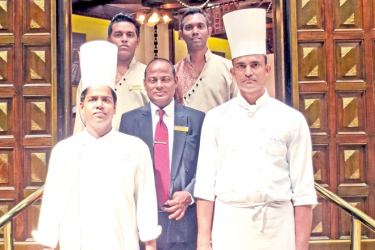 Flavors Restaurant Manager A.Warawita and Chef Aboo Thahir with team