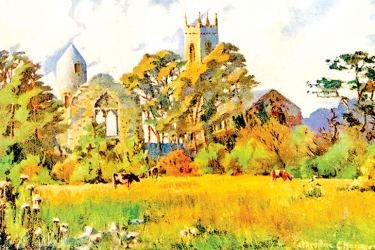 Dromiskin Church, County Louth, Ireland, 1924–26, illustration by Catharine Chamney