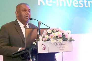 Minister Samaraweera at the event