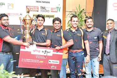 Last year's overall champions 99X Technology team