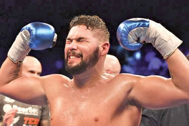 Tony Bellew savours victory over  David Hayes.
