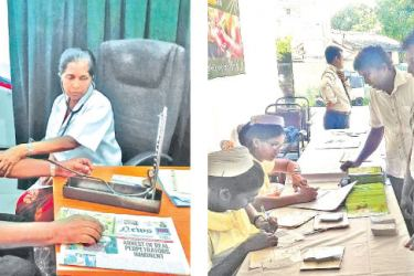 The Siddhalepa Health Camp being conducted at its  Hospital in Mount Lavinia for free consultation and treatment by a panel of eminent Ayurveda physicians.