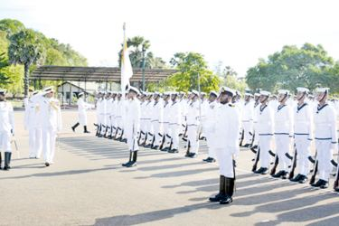 At the passing out parade.