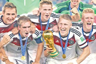 Germany the reigning Football World Cup champions.