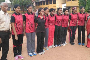 The Ladies College table tennis team with coach NH Perera and teacher in charge Padmi Ratnayake