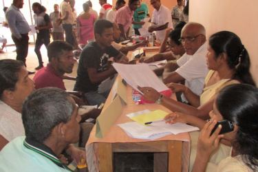 The mobile business registering program in progress. Picture by S. Lokukarawita
