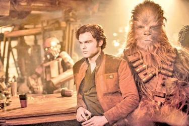"""Because """"Star Wars"""" is so self-consciously mythic, """"Solo""""—which stars Alden Ehrenreich as a young Han Solo—is especially vulnerable to seeming like a simulacrum of a simulacrum."""