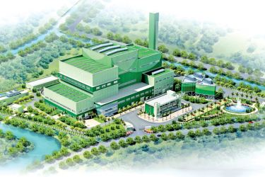 Replica of the proposed waste to energy plant