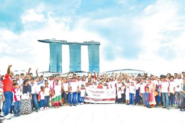 Some of the policyholder families on their visit to Singapore.