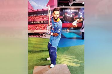 Virat Kohli's wax statue was unveiled at the Madame Tussauds museum in New Delhi on Wednesday.