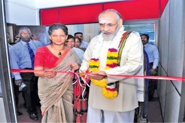 Chief Minister of the Northern Province, C. V. Vigneshwaran and Chairperson and Chief Executive of EDB, Indira Malwatte at the opening ceremony