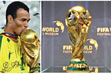 Brazil has won the most World Cups-The present  World Cup trophy