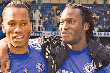 Drogba and Lukaku were both at Chelsea in 2011-12 but never played together - Drogba came off the bench to replace Lukaku on the final day of the season.