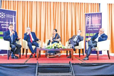 Panelists at the event.  Pictures by Shan Rambukwella