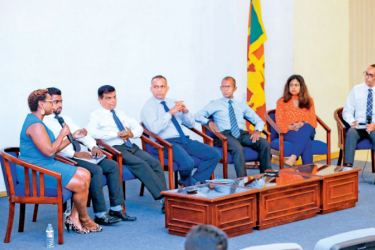 panel discussion at the event