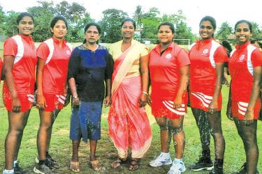 The champion Holy Family Convent Kalutara netball team