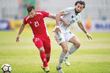 An incident in the game between Pakistan and Nepal.