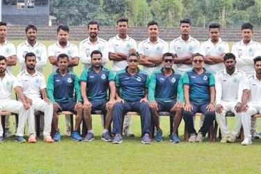 The touring Assam Ranji team with officials