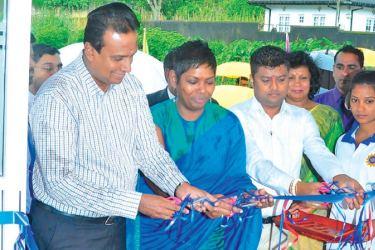 Officials seen open the Agarapathana Vocational Training Centre.