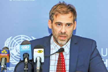 UN Independent Expert on Foreign Debt and Human Rights Juan Pablo Bohoslavsky. Picture by Saman Sri Wedage