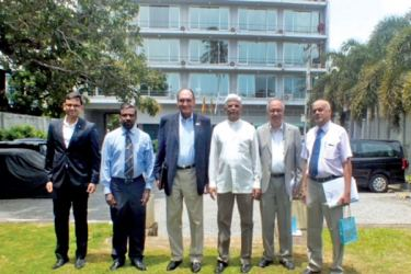 Ambassador Hemanth K. Singh, Director General of Delhi Policy Group accompanied by Ambassador Biren Nanda, Senior Fellow, paid a visit to The Pathfinder Foundation head office located at 'Riverpoint', Peliyagoda in August this year