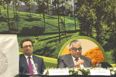 Planters Association Chairman Sunil Poholiyadde at the AGM. Picture by Sudath Malaweera