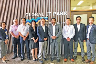 President, Adam Innovations Co., Ltd, Kaushal Wawlagala with delegation from MIPRO (Manufactured Imports and Investment Promotion Organization). MIPRO support import business and investment in Japan. MIPRO was established as a join collaboration between Ministry of Economy, Trade and Industry (METI) and the private sector