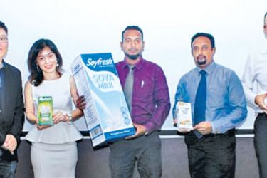 Lee Chee Bun, GM Export, ACE, Valyn Kuay, Export Manager, ACE,S G Prasath, Senior Executive, Shiral Fernando, Manager Sales & Marketing and Yunus Rajkotwala, Managing Director HE Marketing at the launch. Picture by Saliya Rupasinghe