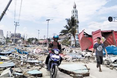 The scene of devastation after earthquakes and a tsunami hit Palu, on Indonesia's Sulawesi island.