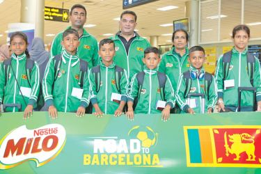 The six young footballers who flew to Barcelona