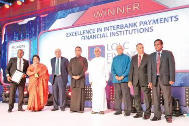 LOLC Finance PLC receives the highest award for Excellence in Interbank Payments in the Financial Institutions Category, overall winner