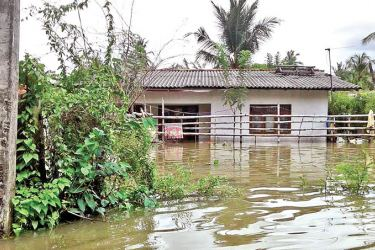 An inundated area in Galle. Picture by Mahinda P. Liyanage