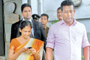 Former State Minister and Jaffna District Parliamentarian Vijayakala Maheshwaran arrested for allegedly exciting or attempting to excite disaffection through a controversial statement in Jaffna was yesterday ordered to be released on bail by Colombo Chief Magistrate's Court. Here Maheshwaran leaving Courts following the court proceedings.  Picture by Wasitha Patabendige