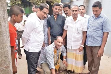 The road work being inaugurated.