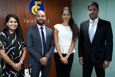 Nisansala Munasinghe, Manager, Branding and Marketing Services, First Capital Holdings PLC, Nathan Thadani, Editorial Manager, Oxford Business Group, Chantal Hesp, Country Director, Oxford Business Group, Dilshan Wirasekara, Director & CEO, First Capital Holdings PLC