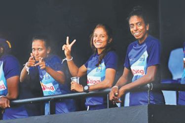 The Sri Lankans didn't have much to do apart from enjoying the rain during the first game against England.