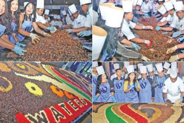 Christmas Cake mixing at Waters Edge. Pictures by Ruwan De Silva