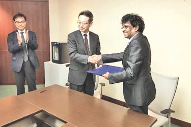 BOI delegate with Japanese officials.