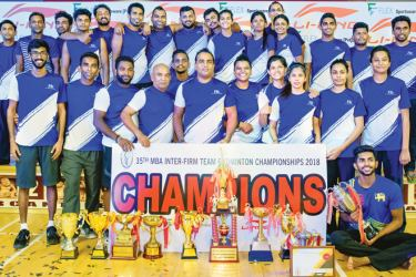 Overall champs McLarens Shuttlers with their awards