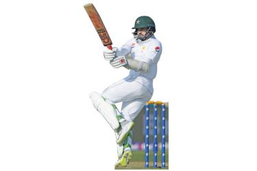 Azhar Ali is leading the Pakistan recovery with an unbeaten 62 in the third Test against New Zealand on Tuesday. AFP